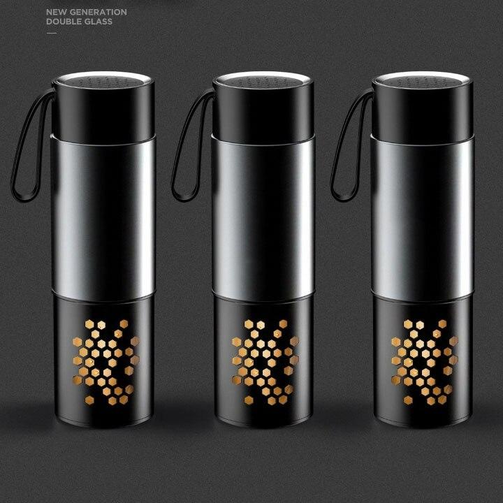 Yooap Hochwertige Doppel-Schicht Wasser Flasche Mit Griff, tee Infuser Kappe BPA FREI Protable Gesunde Glas Tee Flasche Geschenk für Männer