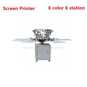 6 Color 6 Station T-shirt Screen Printing Machine T-shirt Printer T-Shirt Making Machine