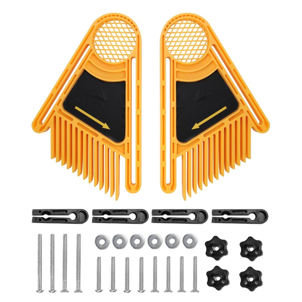 Pena loc placa conjunto de madeira máquina gravura dupla pena placas mitra calibre slot roteador serras mesa