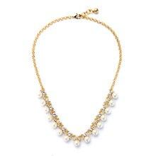 Preço a granel novo design boutique colar para mulheres on-line jóias casamento damas de honra imitação pérola festa colares feminino toque