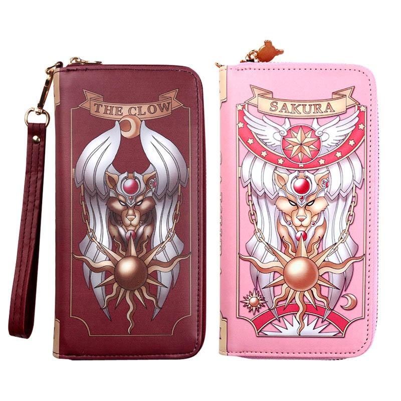 Tarjetero sakura, cartera rosa, bolso de mano para mujer, cartera larga, Cartera de PU, tarjetero, Bolso tipo sobre para mujer