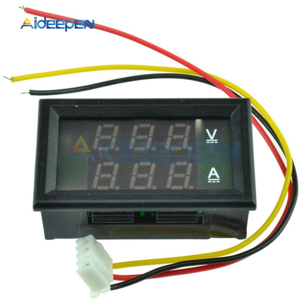 0 28 &quotЦифровой вольтметр Амперметр постоянного тока 30 в 50A 3 Бит провода Ампер