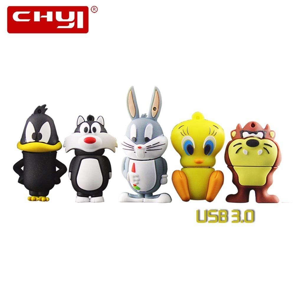 Memoria USB 3,0 de dibujos animados de CHYI, Pendrive de 8 GB, 16 GB, 32 GB, 64 GB, para regalo