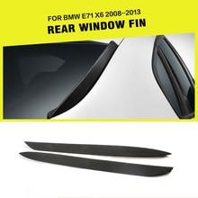 Hinten Fenster Seite Spoiler Flügel Stamm Trim Aufkleber für BMW E71 X6 2008-2013 PU Unlackiert Schwarz
