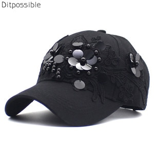 Ditpossible new retro flowers hats for women embroidery snapback hat female baseball cap casquette floral caps
