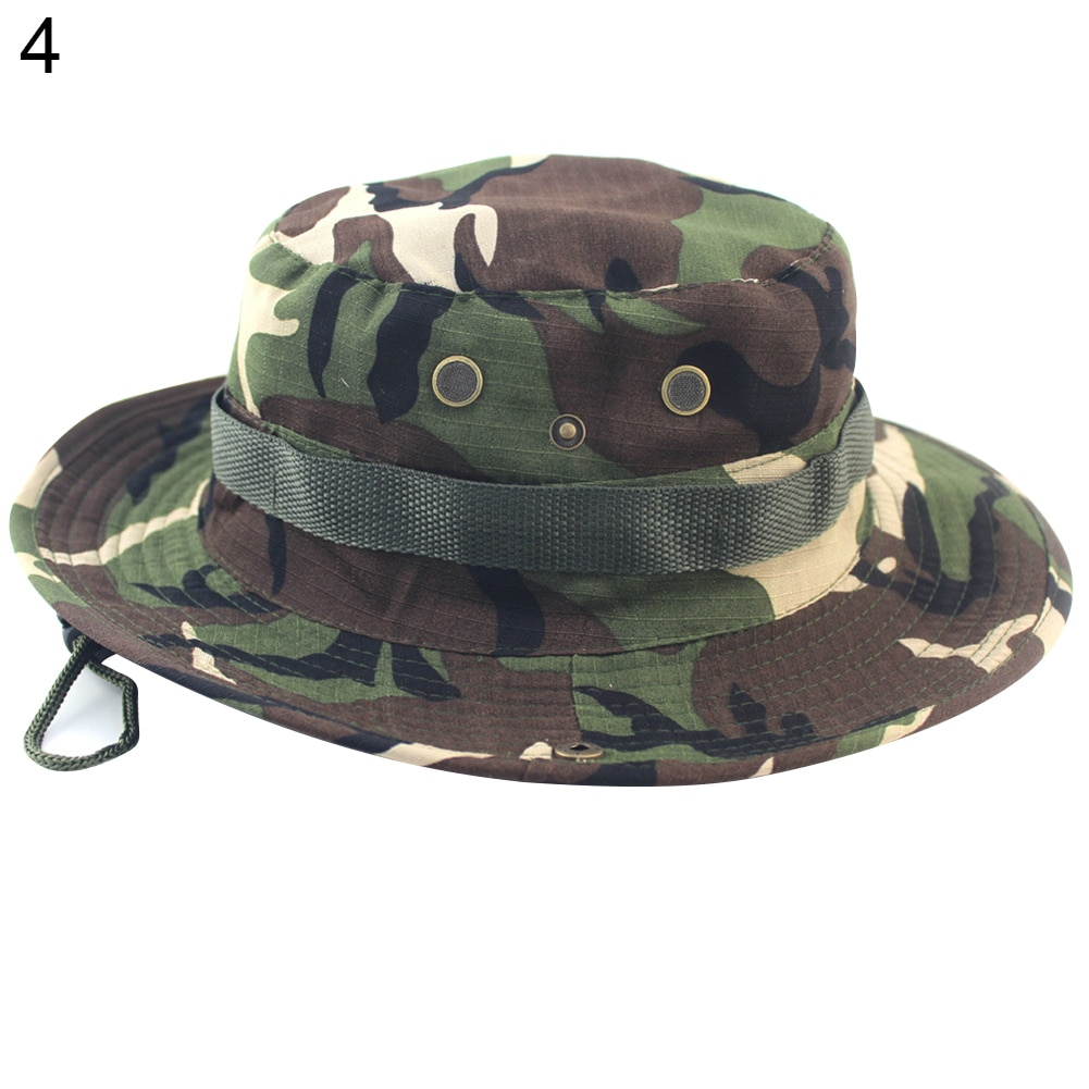 Techo plano sombrero militar cadete patrulla Bush sombrero escalada para exterior pesca gorro boonie