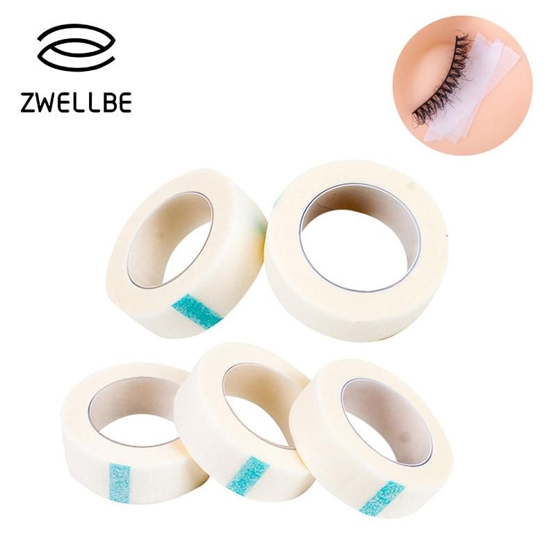 Zwellbe 1/3/5 Pcs/הרבה ריס הארכת מוך עיניים חינם רפידות לבן קלטת תחת רפידות העין נייר עבור שווא עפעף תיקון איפור כלים