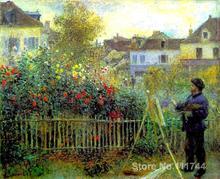Peinture en Pierre Auguste Renoir de Monet   Peintures, peinture moderne, art impressionnisme, peint à la main de haute qualité, dans son jardin dargenteuil
