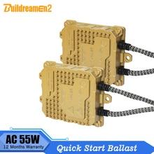 55W Quick Start Lastro AC Digital Lastro Bloco De Ignição Do Carro Compatível Com Todos Lâmpada de Xenônio H1 H3 H4 H7 H8 h11 9005 9006 9007 H13