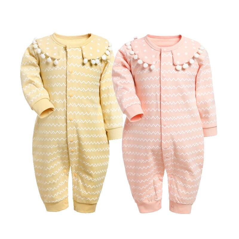 Ropa de BEBÉ Niña Bebé de Los Mamelucos del Otoño Roupas Infantil Del Mono Ropa Del Bebé Recién Nacido Ropa Del Bebé Del Algodón de Primavera