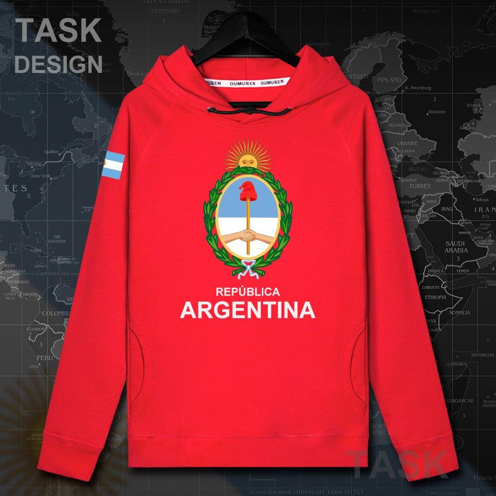Argentine Argentine AR hommes pull à capuche dautomne pulls à capuche hauts hommes sweat mince streetwear vêtements survêtement nation manteau 20