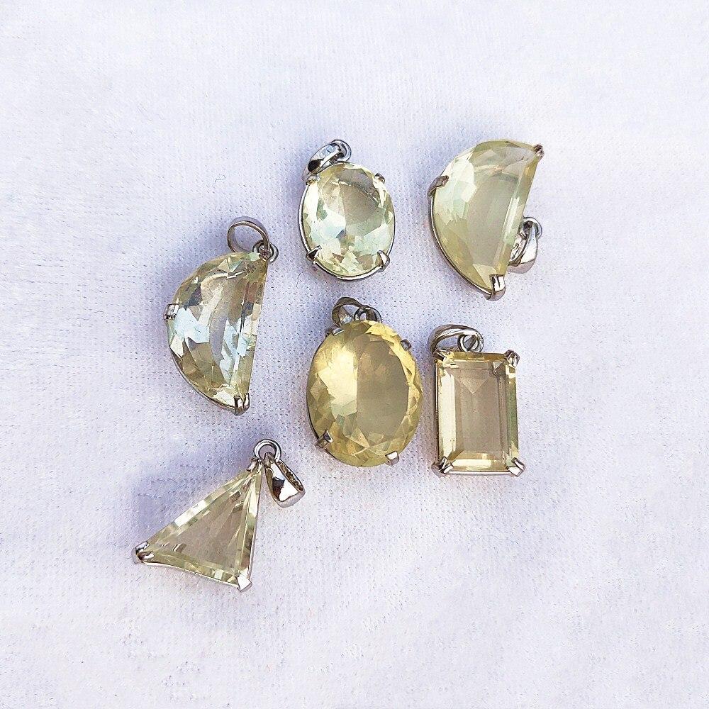 Collar con colgante de cristal de cuarzo Natural de citrino, piedras naturales curativas, forma aleatoria colgante, envío aleatorio 1 Uds