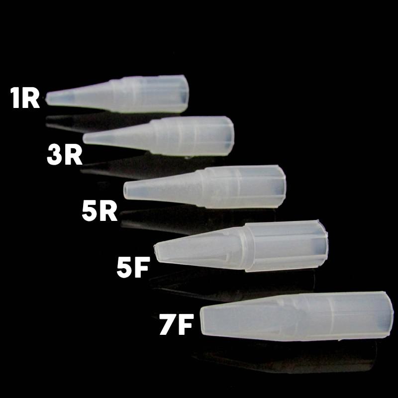 100 pcs Big Disposable Tattoo Needle Cover 1RL 3R 5R 5F 7F Sterile Permanent Makeup needle Tips Tattoo Needles Nozzle
