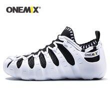 ONEMIX 2020 hommes lumière en plein air chaussures de marche en caoutchouc souple semelle extérieure décontracté multifonction séchage rapide chaussettes respirant chaussures de course