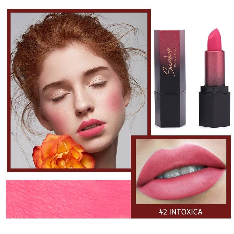 Terciopelo brillo de labios pintalabios Venta caliente impermeable mate bálsamo labial rojo Sexy tinte 10 colores maquillaje de moda para mujer regalo