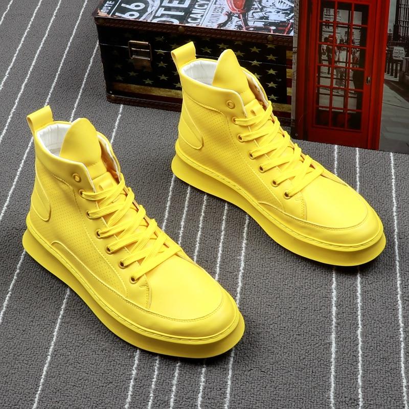 حذاء Stephoes ، طويل الرقبة ، عصري ، للرجال, حذاء رجالي ماركة فاخرة ، أحذية الكاحل عالية الجودة ، أحذية هيب هوب كاجوال قابلة للتنفس ، أحذية موسم ال...