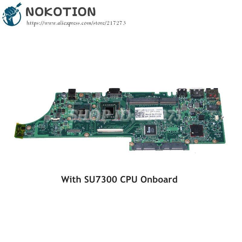 Nokotion CN-031VJ5 031vj5 placa principal para dell vostro v13 computador portátil placa mãe slb92 su7300 cpu a bordo ddr3