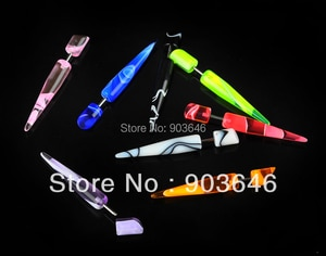LOT50pcs MARBLE Body Jewelry -Fake Ear Plugs Illusion Ear Tapers Expander Plug earring ear studs 6mm
