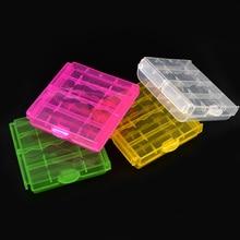 2019 coloré boîtier en plastique porte-boîte de rangement couverture pour 10440 14500 AA AAA batterie boîte conteneur sac Case organisateur boîte Case