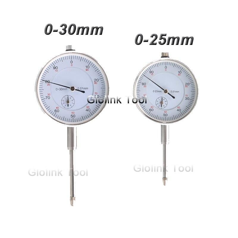 Precisão 0-25mm 0-30mm 0.01mm dial indicador medidor indicador preciso indicador medida instrumento ferramenta dial calibre micrômetro