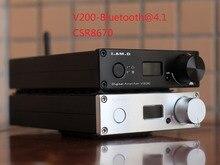2019 ICH. BIN. D V200BT Bluetooth@5.0 CSR8675 Unterstützung APTX HD Full Digital Audio Power Verstärker 150W * 2 USB XMOS U208 24Bit /192KHz