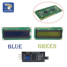 LCD1602 PCF8574T PCF8574 IIC/I2C/인터페이스 16x2 문자 LCD 디스플레이 모듈 1602 Arduino DIY 용 5V 청색/황색 녹색 화면