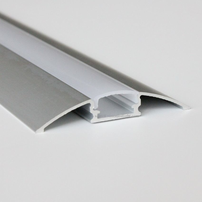 5 m (10 stks) veel, 0.5 m per stuk, geanodiseerd diffuse cover led strip profiel aluminium AP5208