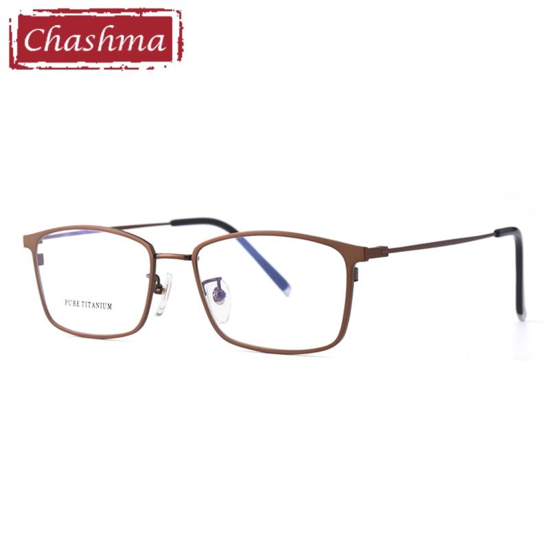 Gafas ópticas para hombre, montura de gafas de titanio puro Flexible, gafas de moda para gafas de prescripción transparente