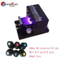 Inkjet A4 size Economic UV printer for phone case acrylic leather ceramic etc print