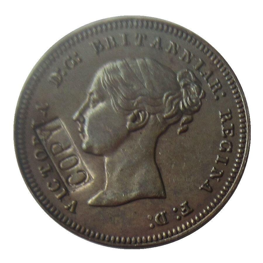 Reino unido 1/2 farthing-victoria 1839, 1842, 1843, 1844, 1847, 1851, 1852 1853, 1854, 1856 borda simples de moedas de cobre cópia