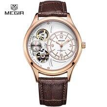 MEGIR hot marque étanche montre à quartz homme mode bracelet en cuir montres décontracté mâle masculino relojes montre heure 2017