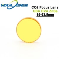 usa cvd znse co2 laser focus lens dia 15mm fl 63 5mm 2 5 for co2 laser engraving cutting machine