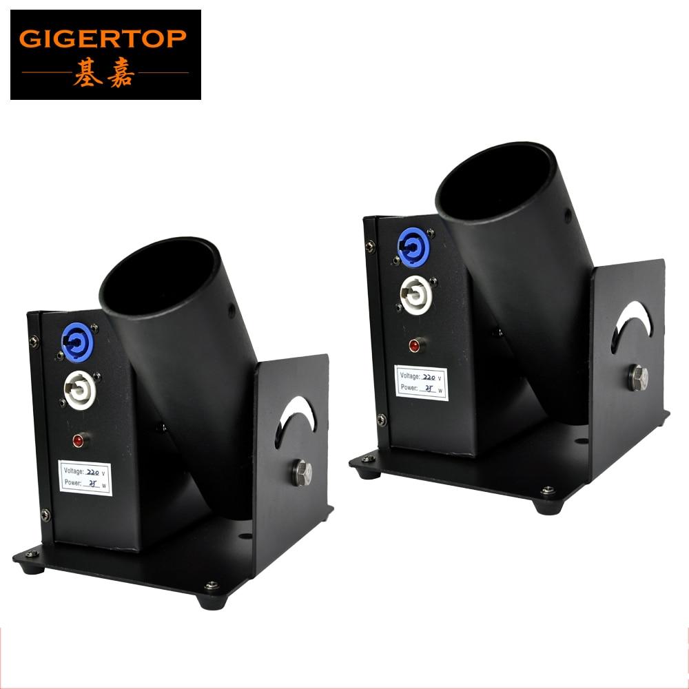 Envío gratis 2 unids/lote un tiro máquina de confeti eléctrica de Control DMX etapa EFECTO DE TIPTOP luces de escenario de 110 V-240 V