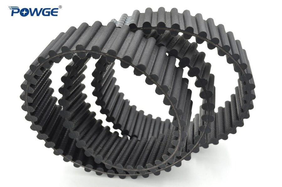 POWGE مزدوج الوجهين حزام متزامن 3200-D8M-85 نوع دا تخصيص جميع أنواع HTD3M HTD5M HTD8M مزدوجة الأسنان مؤقت اشتعال