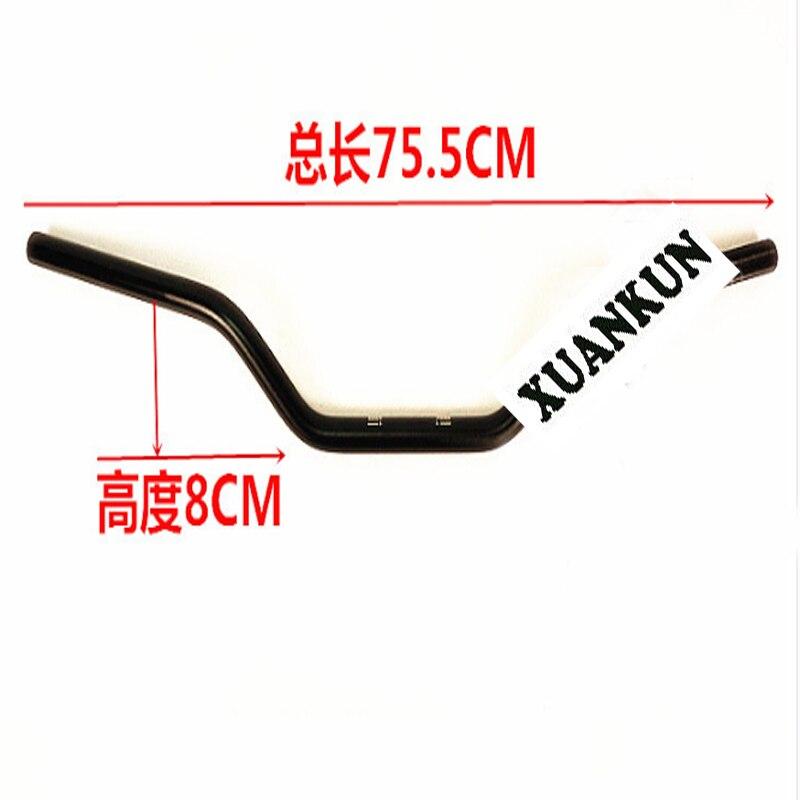 Accesorios de motocicleta XUANKUN, manillar modificado, aleación de titanio negro, Color primario TR250SR