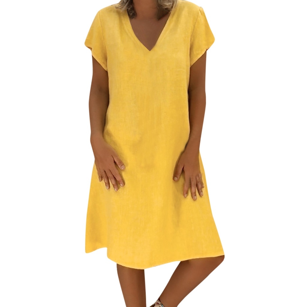 Womens Solid Beach Dress Long Sleeve Sweatshirt Travel Pocket Casual Maxi Dresses Loose Dress Sexy Dresses Party Dress#N