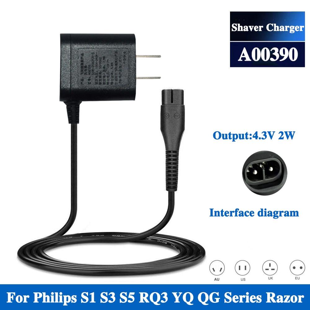 ЕС вилка A00390 зарядное устройство Шнур питания Адаптер для Philips Norelco бритва S300 S301 S302 S311 S331 S510 S520 S530 A00390 зарядное устройство