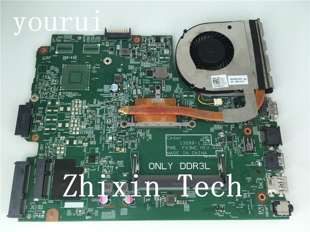 Yourui ordenador portátil placa madre para Dell Inspiron 3443 de 3543 con i3-5005u CPU CN-0CW5N0 0CW5N0 CW5N0 13269-1 PWB; FX3MC REV; A00 de prueba