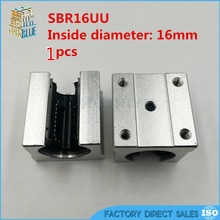 1 stücke SBR16UU aluminium block 16mm Linear motion kugellager rutsche spiel verwendung SBR16 16mm linear guide schiene