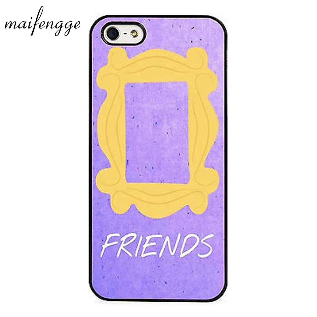 Maifengge Monicas puerta púrpura amigos NYC caso para iPhone 5 5 5 6 6 7 8 plus 11 pro X XR XS Max Samsung Galaxy S7edge S8 S9 S8
