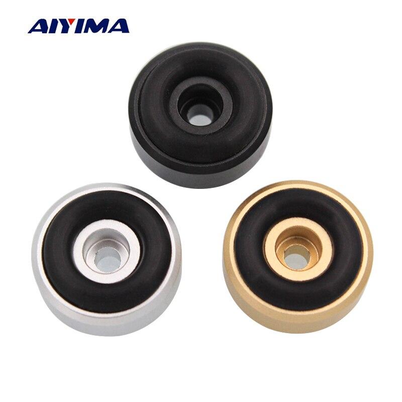 Aiyima 4 pçs mini alto-falante ativo spikes almofadas de pé d20h8mm diy para alto falantes de áudio peças reparo chassis vibração amortecimento feets