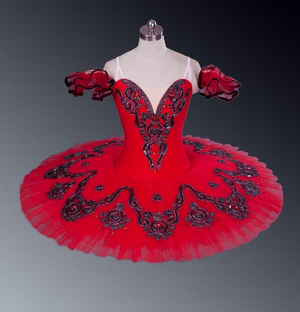Adultos rojo clásico ballet etapa adulto vestido de tutú profesional