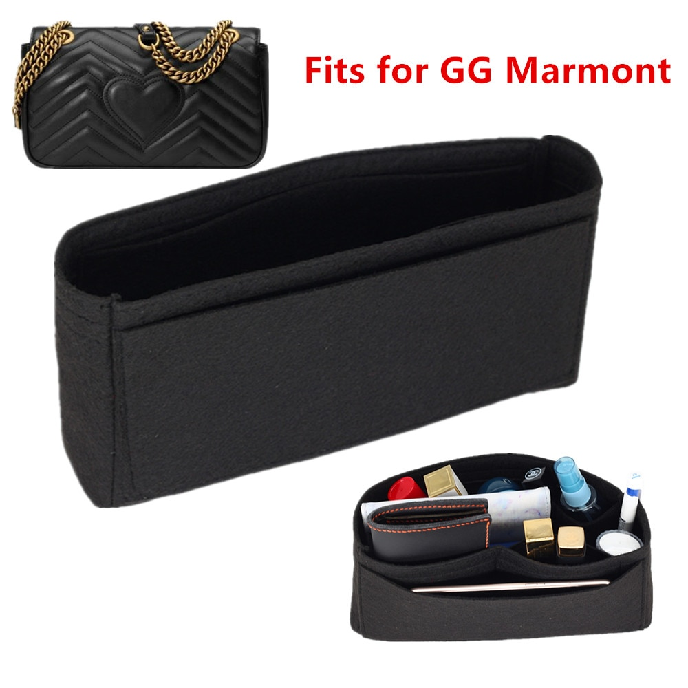 Fits For double G marmont Insert Bags Organizer Makeup GG Handbag Travel Inner Purse Portable Cosmet