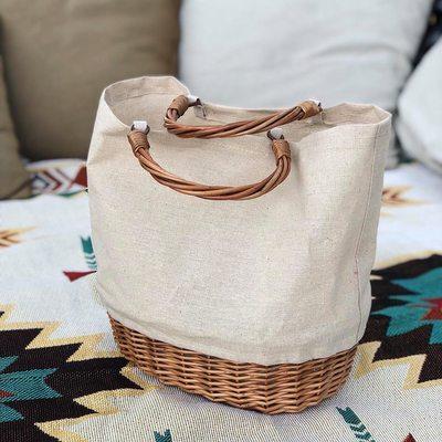 Luxury Arrive Rattan Bucket Handbag Lady Beach Shoulder Tote Travel Clutch Bohemian Straw Bags Women Summer Wicker Basket Bag