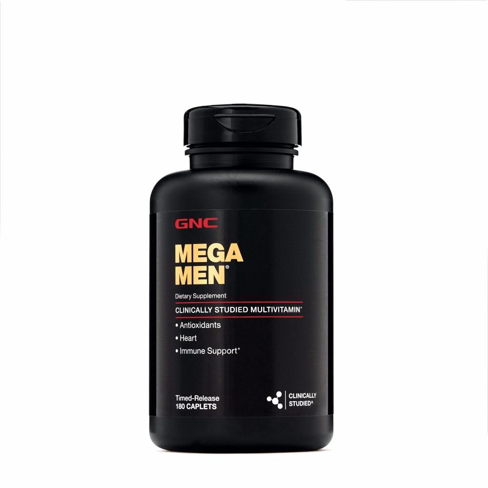 MEGA MEN 180 caplets multivitamins Men's Health Antioxidants Supports Heart and Immune System from USA