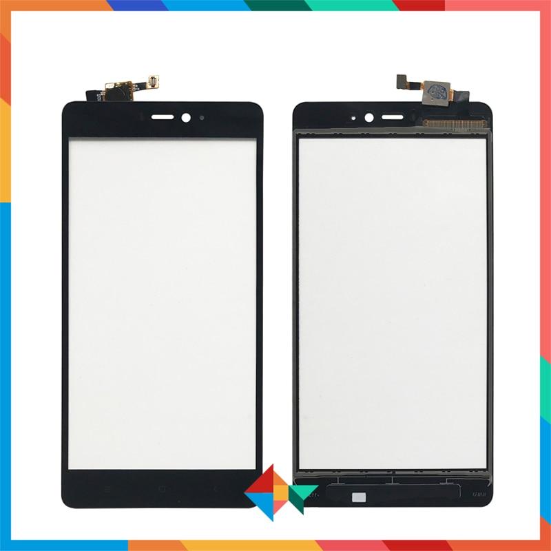 """Alta calidad 5,0 """"para Xiaomi Mi 4 4i 4C 4S Mi4 Mi4i Mi4C Mi4S Digitalizador de pantalla táctil Panel de Sensor de lente de cristal frontal"""