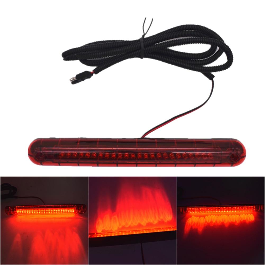 Plástico universal 12v 24 led carro vermelho de montagem alta terceira 3rd freio parar luz da cauda lâmpada luz de freio