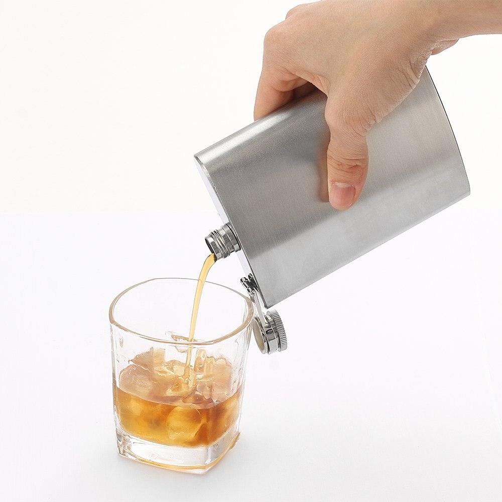 8oz de acero inoxidable frasco de whisky hip botella de Alcohol como un regalo de la dama de honor de viaje de botella de licor botella frasco de whisky botella de alcohol