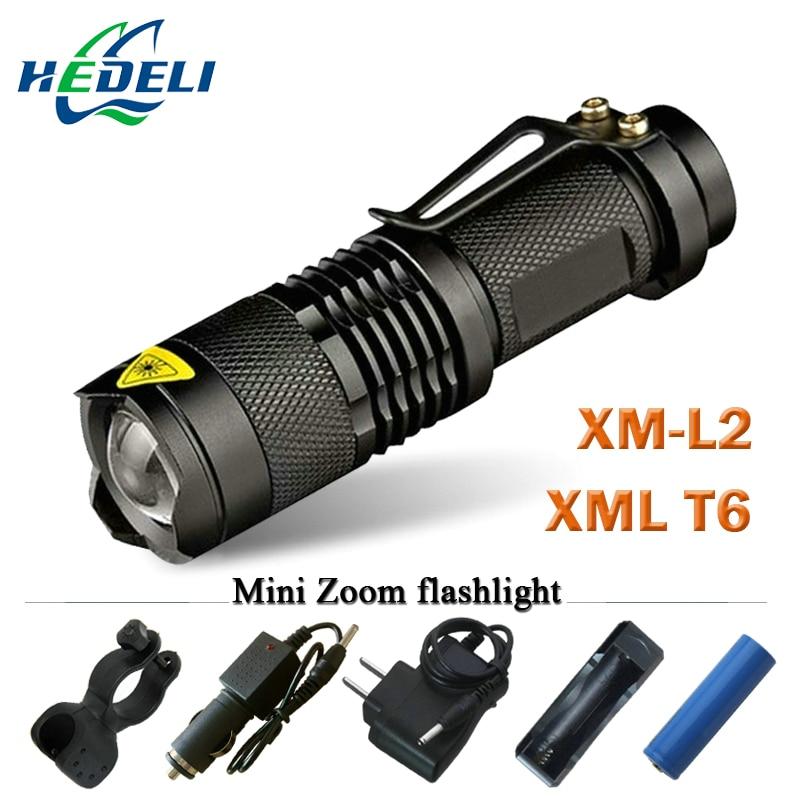 Mini linterna Led CREE XML T6 XM-L2 linterna Led potente linterna recargable 3800 lúmenes uso batería 18650
