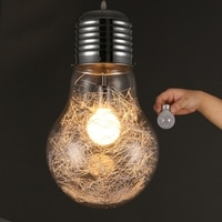 BDBQBL Creative Personality Pendant Lights Art Deco Style Cord Pendant Glass Mental E27 White Silver Gold Hanging Lamp